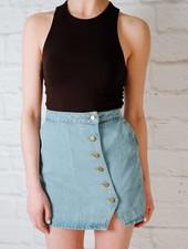 Skirt Button Down Denim Skirt