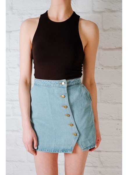Skirt Button Down Denim Skirt