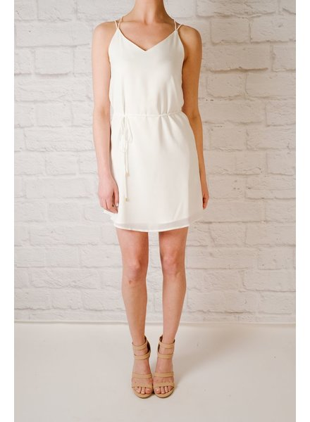 Shift White crossover string strap dress