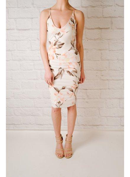 Midi Floral Print Midi Dress