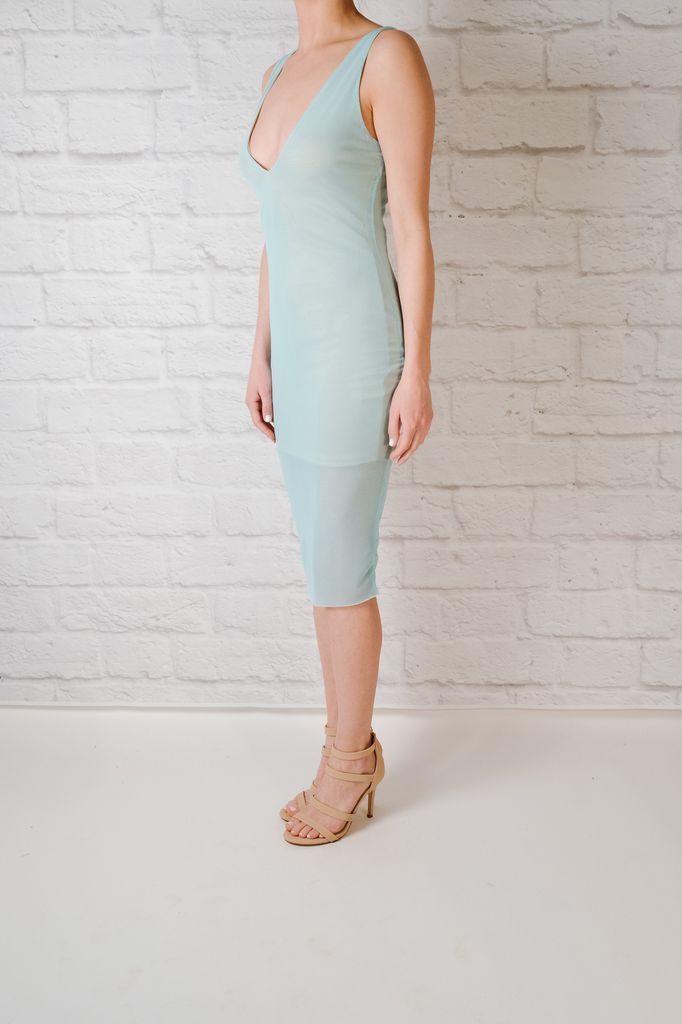 Midi Sky Lined Midi Dress
