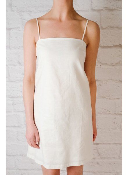 Mini Linen Tie Back Dress