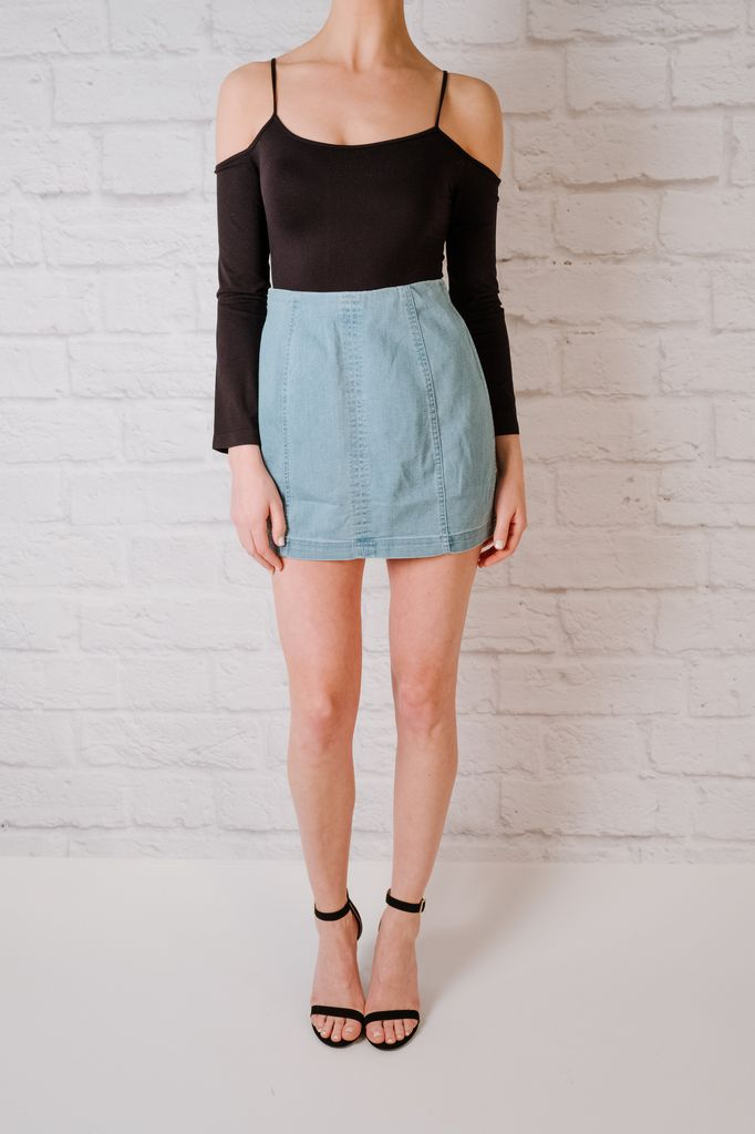 Skirt A Line Denim Skirt
