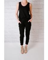 Casual Black weekender jumpsuit