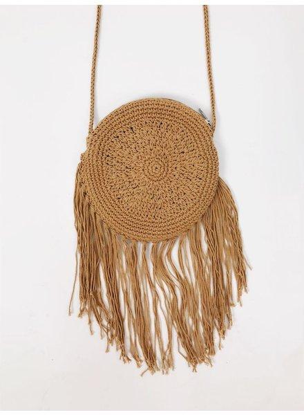 Handbag Round Rattan Crossbody