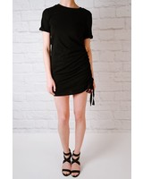 Mini Rouched shirt dress
