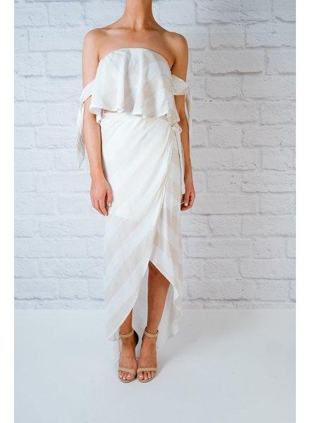 Skirt Sand Striped Wrap Skirt