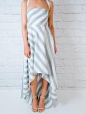 Maxi Striped High-Low Dress