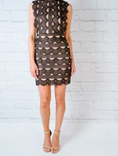 Mini Lace Contrast Dress