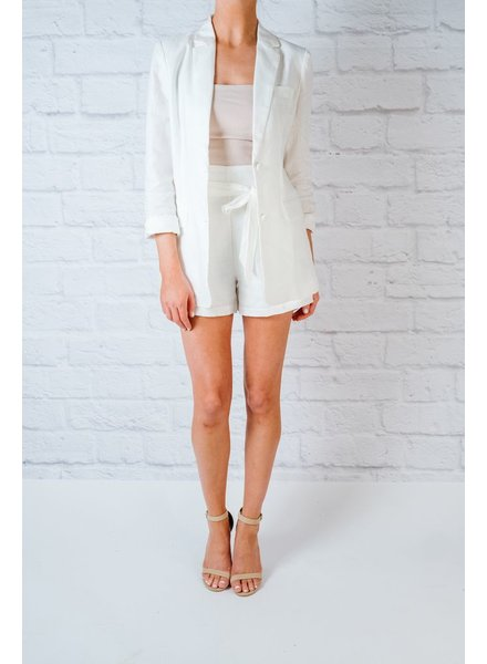Blazer White Linen Blazer