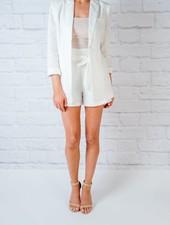 Shorts White linen suit shorts