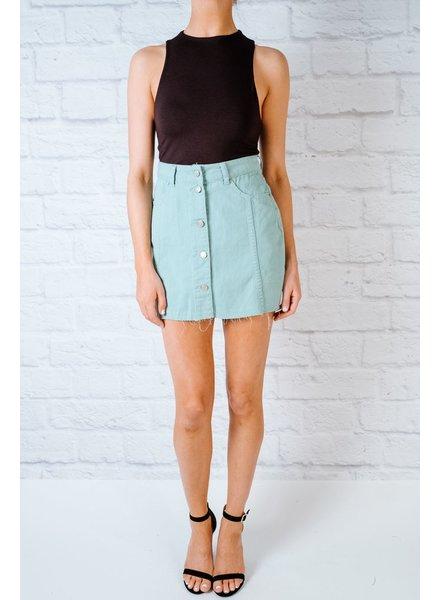 Skirt Mint Denim Mini Skirt