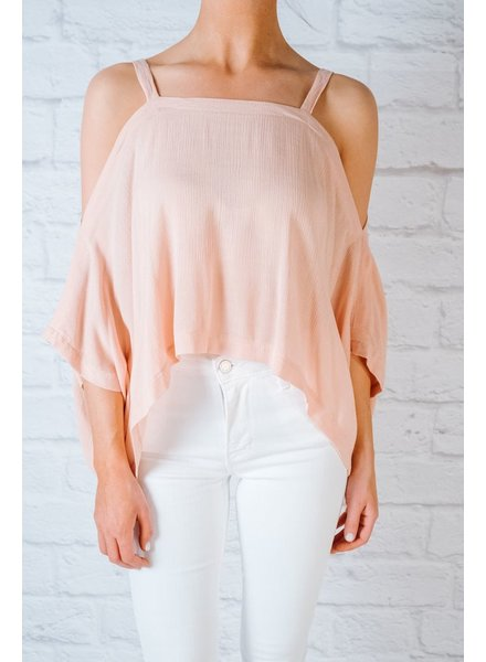 Blouse Dusty pink rayon cold shoulder