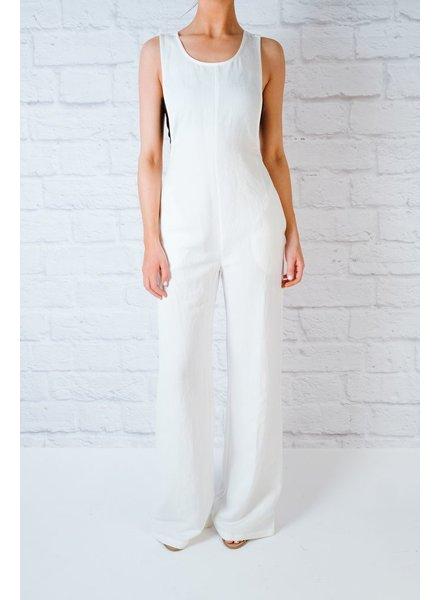 Jumpsuit White Linen Jumpsuit