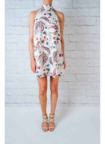 Mini Halter Tie Flare Dress