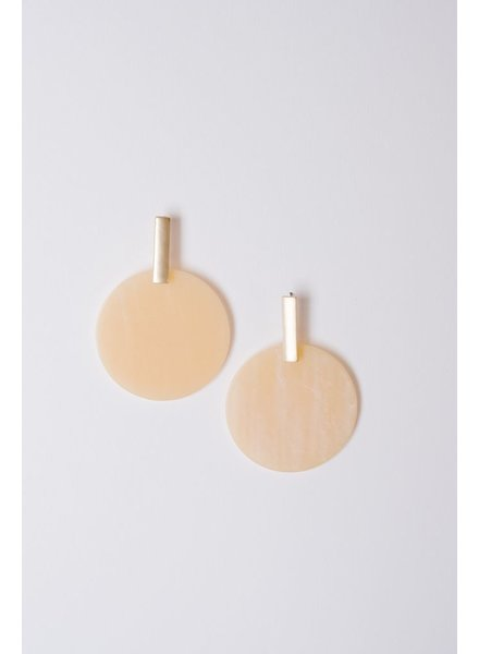 Trend Natural disk earrings