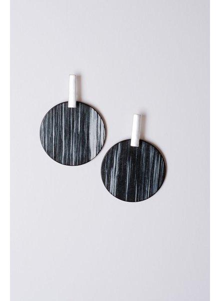 Trend Black disk earrings
