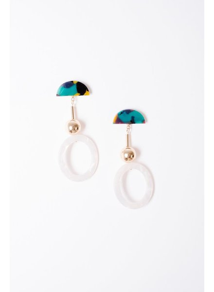 Trend Emerald and mother of pearl drops