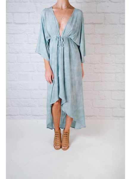 Midi Vintage Drawstring Dress