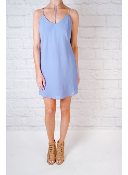 Mini Tie Neck Slip Dress