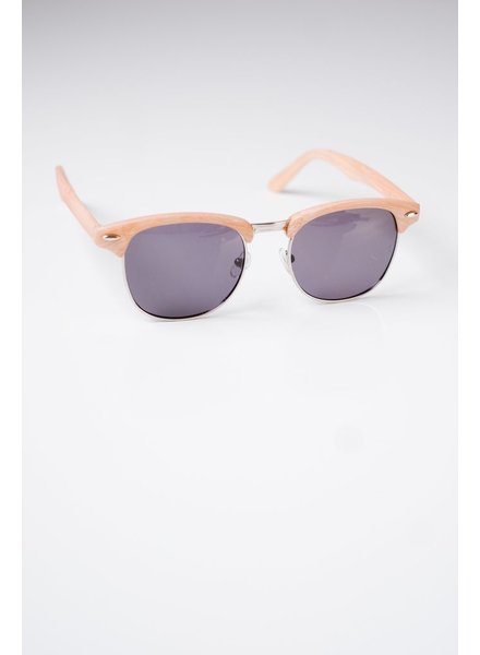 Sunglasses Light Wood Frame Clubmasters