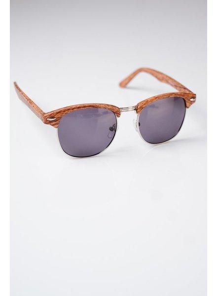 Sunglasses Dark Wood Framed Clubmasters