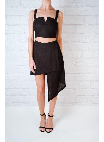 Skirt Linen Asymetrical Skirt