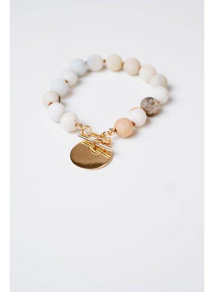Stone Beaded charm bracelet