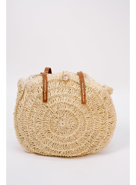 Handbag Light woven circle bag