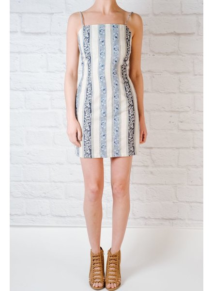 Mini Tapestry Tie Back Dress