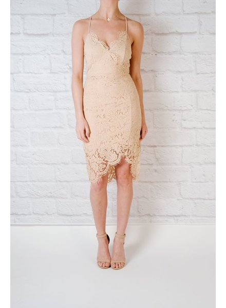 Midi Lace tulip bottom midi
