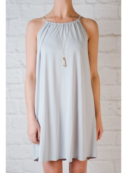 Casual Powder Blue Jersey Dress
