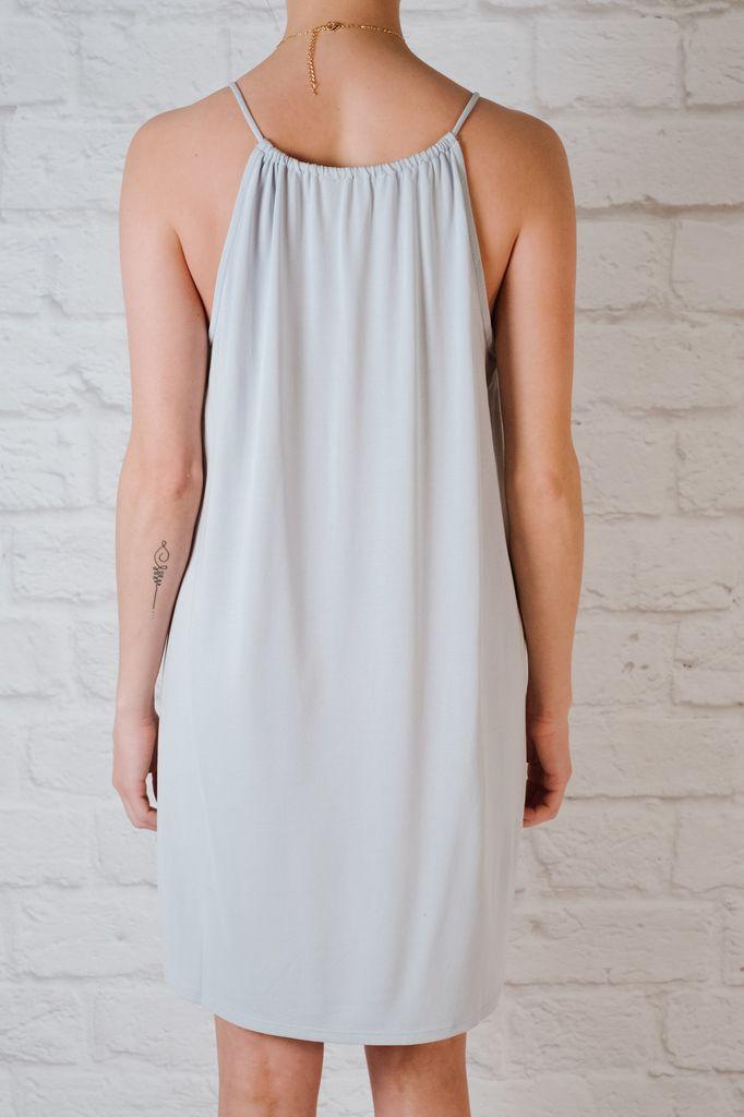 Casual Powder Blue Jersey Dress