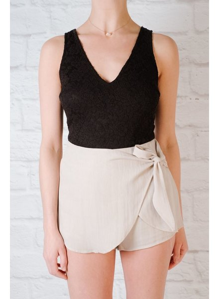 Skirt Dusty Rose Side Tie Skort