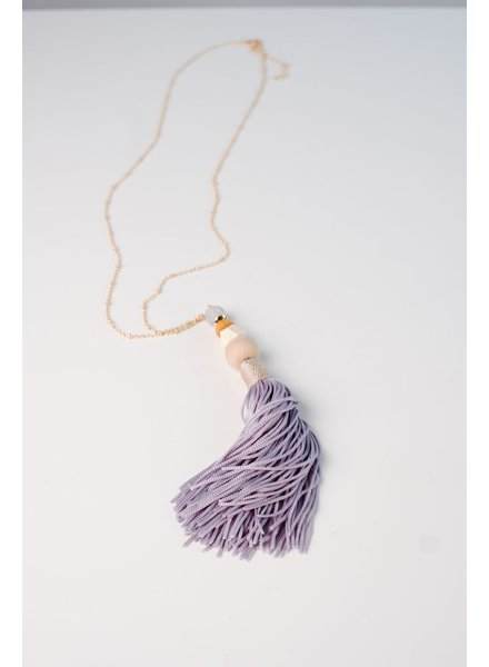 Long Summer tone tassel necklace