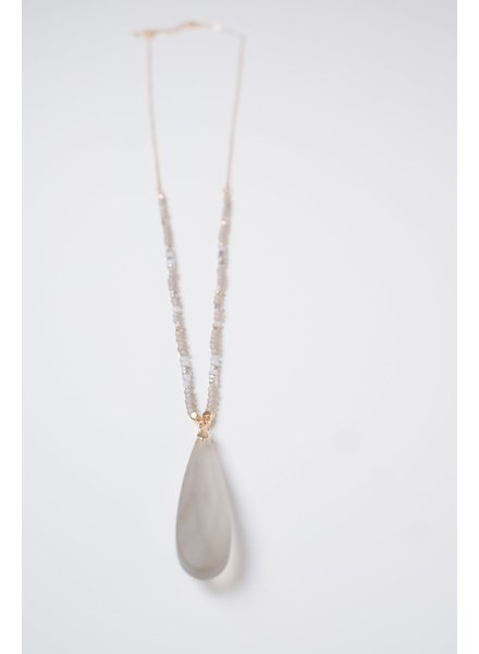 Long Glass Pendant Necklace