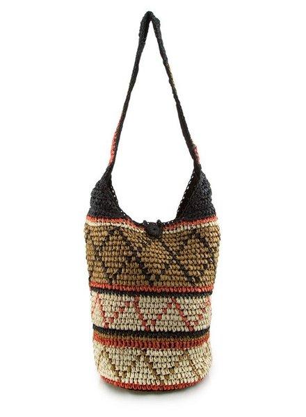 Handbag Woven aztec shoulder bag