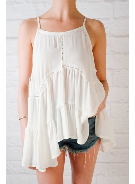 Tank Flowy Tank With Lace Up Sides