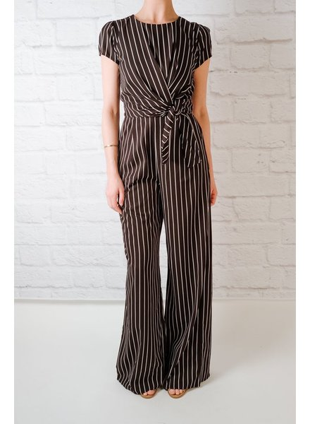 Jumpsuit B&W Striped Jumpsuit