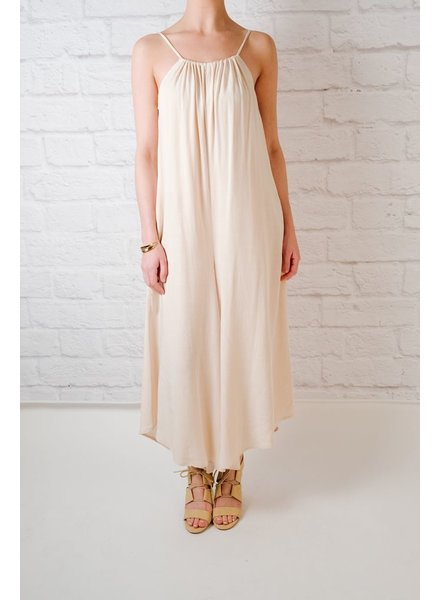 Jumpsuit Cream Wide Leg Jumpsuit