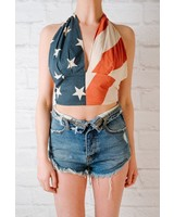 Halter Old glory halter top