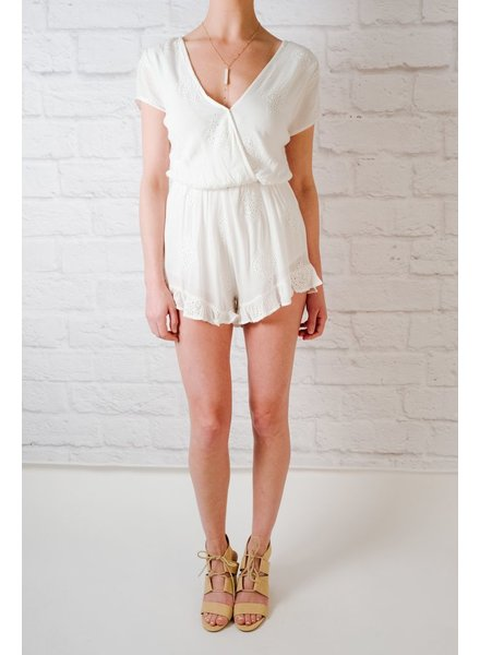 Romper Embroidered Laced Romper