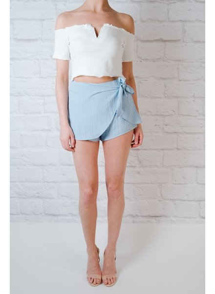 Skirt Chambray Side Tie Skort