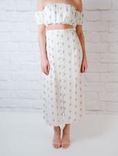 Skirt Diamond Button Down Skrit
