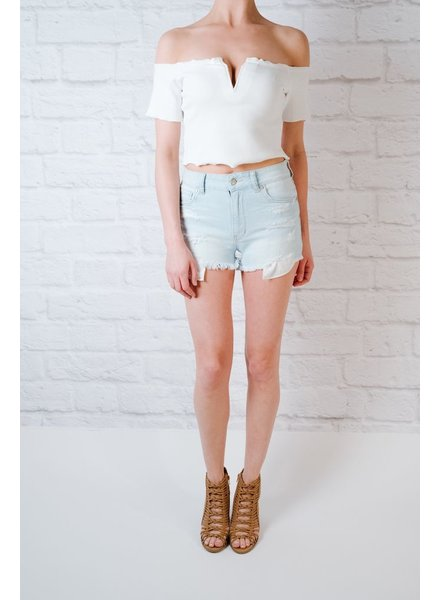 Shorts Peek-A-Boo Pocket Cut-Offs