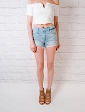 Shorts Relaxed Destroyed Hem Shorts