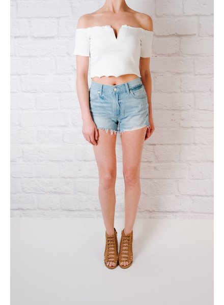 Shorts Relaxed Destroyed Hem Shorts
