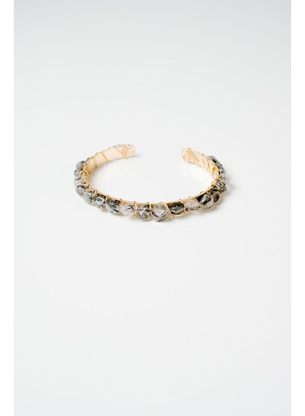 Trend Grey stone bangle