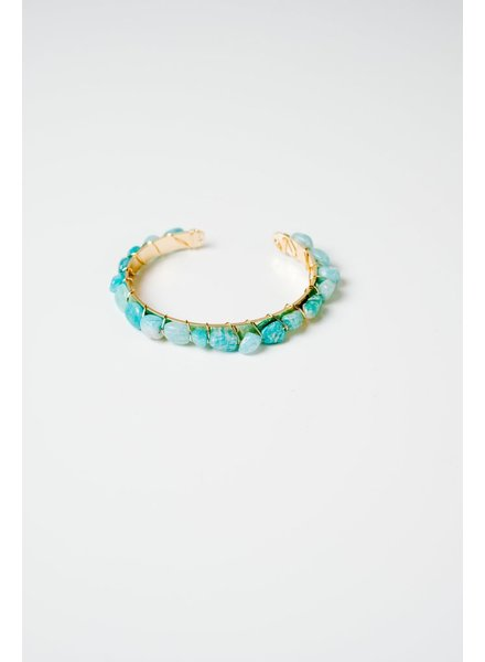 Trend Turquoise stone bangle