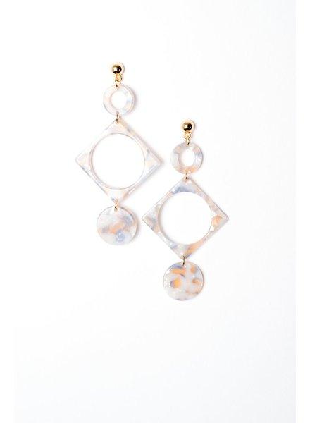 Trend Geometrical Resin Drop Earrings
